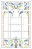 Stained-glass panel / art Nouveau style Royalty Free Stock Images