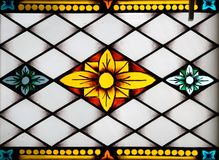 Stained-glass panel in the mus Royalty Free Stock Photography