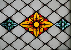 Stained-glass panel in the mus Stock Images