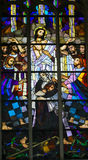 Stained Glass - Parable of the Prodigal Son Royalty Free Stock Photo
