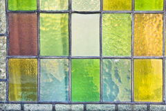 Stained glass. Part of a stained glass window as a background Stock Photography
