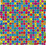 Stained-glass pattern Royalty Free Stock Image