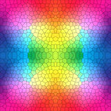 Stained glass pattern in bright colors Royalty Free Stock Photo
