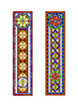 Stained glass  pattern. Stained glass pattern, geometric pattern in the Gothic style Royalty Free Stock Image