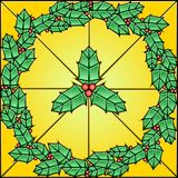 Stained Glass Pattern - Holly Royalty Free Stock Photography