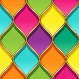 Stained glass pattern. Multicolor stained glass with Golden partitions. Seamless geometric pattern for your design Royalty Free Stock Images