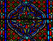 Stained glass pattern. Photo of a stained glass window Stock Image
