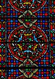 Stained glass pattern. Photo of  a stained glass window Royalty Free Stock Image