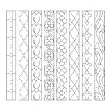 Stained glass patterns. Patterns of decorative elements for the stained glass windows Royalty Free Stock Photo