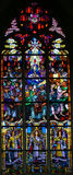 Stained Glass - Pentecost window Royalty Free Stock Photos