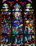 Stained Glass - Pentecost window Royalty Free Stock Photo