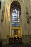 Stained glass and  picture in the cathedral in Den Bosch Stock Photography