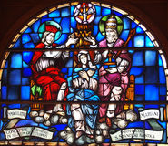 Stained glass. Picture of the stained glass in the church Stock Photography