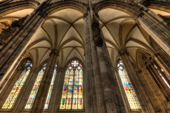 Stained Glass and Pilars Royalty Free Stock Images