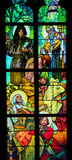 Stained Glass in Prague Cathedral by Alphonse Mucha Stock Photos