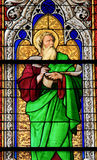 Stained Glass - the prophet Ezechiel Stock Photo