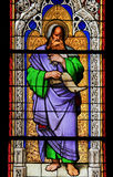 Stained Glass - the prophet Isaiah. Church window in the Dom of Cologne, Germany, depicting the prophet Isaiah Stock Photos
