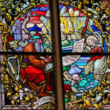 Stained Glass - The Prophet Jeremiah Royalty Free Stock Photography