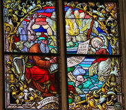 Stained Glass - The Prophet Jeremiah Stock Photography