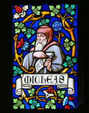 Stained Glass - The Prophet Micah Stock Images