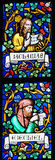 Stained Glass - Prophets Zechariah and Ezekiel Royalty Free Stock Photography
