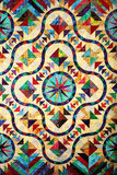 Stained Glass Quilt Pattern stock photos
