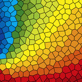 Stained Glass Rainbow. A Multicolored Stained Glass Rainbow Stock Images