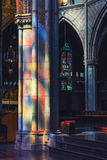Stained glass reflections Stock Image