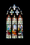 Stained-glass - religion royalty free stock photography