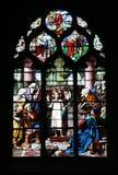 Stained-glass - religione fotografie stock