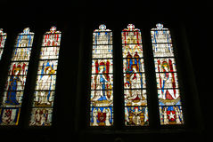 Stained glass, religious scenes Royalty Free Stock Image