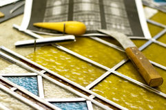 Stained glass renovation Royalty Free Stock Photos