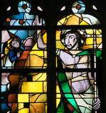 Stained Glass - Resurrection of Jesus Christ Stock Image