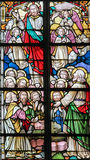 Stained Glass - Resurrection of Jesus Royalty Free Stock Image