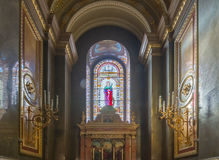 Stained glass in the roman catholic church St. Stephen's Basilica. Stock Photography