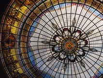 Stained glass roof. Colorful stained glass roof at a shopping center at day light - Mendoza - Argentina Royalty Free Stock Photos
