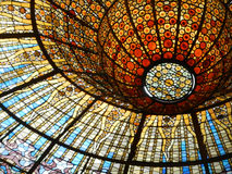 Stained glass roof Stock Photography