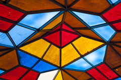 Stained-glass roof Royalty Free Stock Images