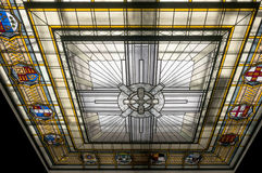 Stained Glass Roof. The Stained Glass Roof of the war memorial museum in Auckland Royalty Free Stock Images