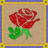 Stained glass rose Stock Image