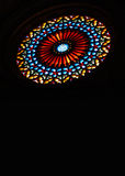 Stained Glass Rose Window. Mallorca's Cathedral Rose Window in Palma de Mallorca, Spain Royalty Free Stock Photos