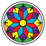 Stained glass rosette Stock Photography