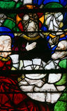 Stained Glass in Rouen Cathedral - Jesus at the Last Supper Royalty Free Stock Photos