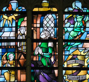 Stained Glass - Sacrament of Penance or Confession Royalty Free Stock Photo