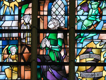 Stained Glass - Sacrament of Penance or Confession Stock Photography