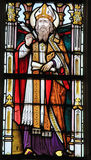 Stained Glass - Saint Ambrose Royalty Free Stock Image