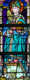 Stained Glass - Saint Ambrose Stock Photo