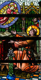 Stained Glass - Saint Anthony of Padua and the Infant Jesus Stock Image