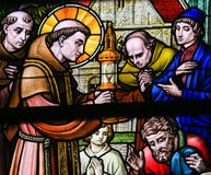 Stained Glass - Saint Anthony of Padua Royalty Free Stock Images