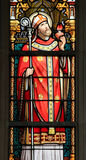 Stained Glass - Saint Augustine Royalty Free Stock Image